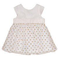 material Girl Short Dresses Petit Bateau FAVORITE White / Gold
