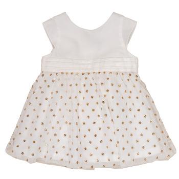 material Girl Short Dresses Petit Bateau FAVORITE White / Gold