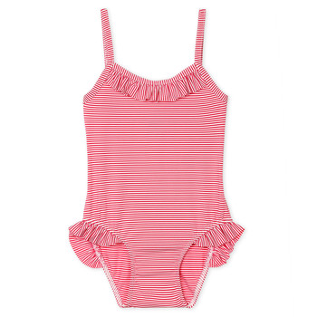 material Girl Swimsuits Petit Bateau FIKA Pink / White