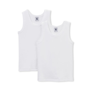 material Boy Tops / Sleeveless T-shirts Petit Bateau 53326 White