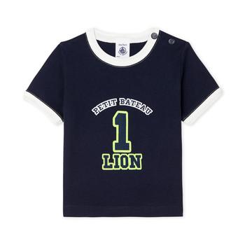 material Boy short-sleeved t-shirts Petit Bateau FUDGE Blue