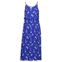 material Women Long Dresses Moony Mood PATRICK Blue / White / Red