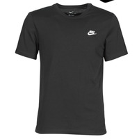 material Men short-sleeved t-shirts Nike M NSW CLUB TEE Black / White