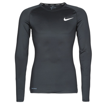 material Men Long sleeved shirts Nike M NP TOP LS TIGHT Black / White