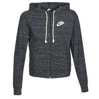 material Women sweaters Nike W NSW GYM VNTG HOODIE FZ Grey