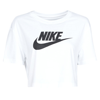 material Women short-sleeved t-shirts Nike W NSW TEE ESSNTL CRP ICN FTR White / Black