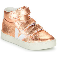 Shoes Girl High top trainers Veja SMALL-ESPLAR-MID Pink