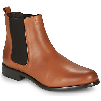 Shoes Women Mid boots André CARAMEL Cognac