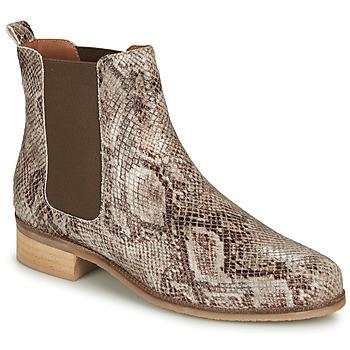 Shoes Women Mid boots André PANACOTTA Beige