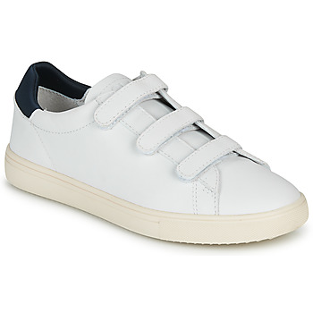 Shoes Low top trainers Claé BRADLEY VELCRO White / Blue