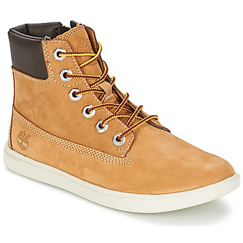 Shoes Boy Mid boots Timberland GROVETON 6IN LACE WITH SIDE ZIP Wheat