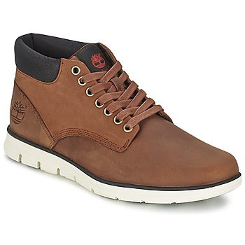 Shoes Men High top trainers Timberland BRADSTREET CHUKKA LEATHER RED / Brown / Fig