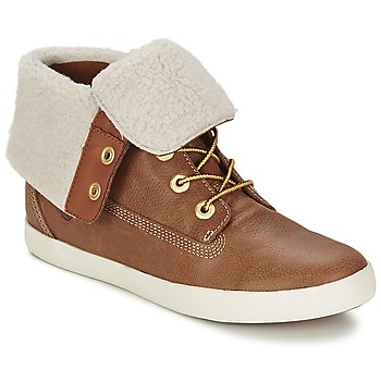 Shoes Women Mid boots Timberland GLASTENBURY FLEECE FOLD DOWN TAN