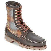 Shoes Men Mid boots Timberland AUTHENTICS 8 IN RUGGED HANDSEWN F/L BOOT Brown / Dark / FELT