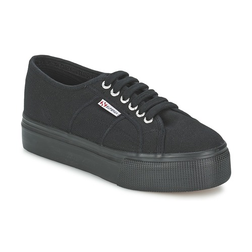 Shoes Women Low top trainers Superga 2791 COTEW LINEA Black