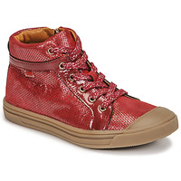 Shoes Girl High top trainers GBB LEOZIA Red