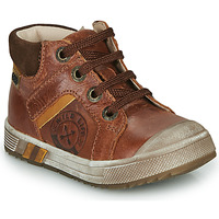 Shoes Boy High top trainers GBB OLANGO Brown