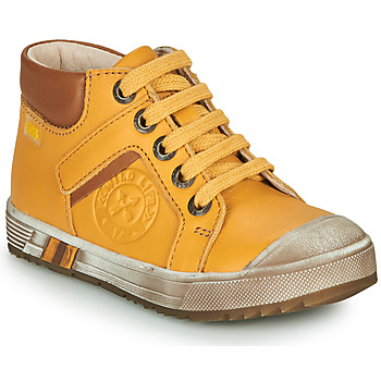 Shoes Boy High top trainers GBB OLANGO Yellow