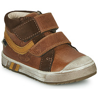 Shoes Boy High top trainers GBB OMALLO Brown