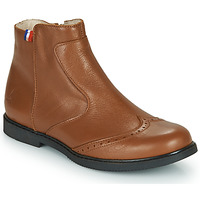 Shoes Girl Mid boots GBB NOUGATINE Brown