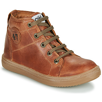 Shoes Boy High top trainers GBB KELIG Brown