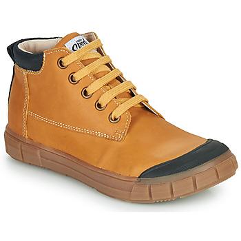 Shoes Boy High top trainers GBB SHEN Cognac