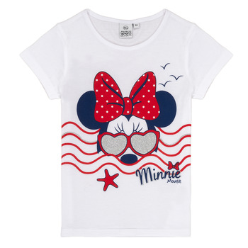 material Girl short-sleeved t-shirts TEAM HEROES  MINNIE White