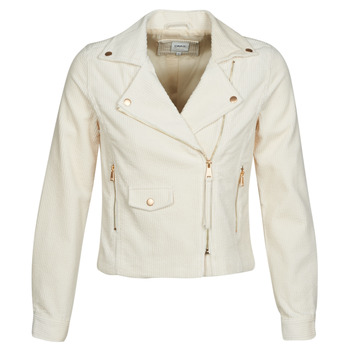 material Women Leather jackets / Imitation leather Only ONLBIANCA Beige