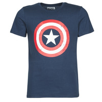 material Men short-sleeved t-shirts Casual Attitude CAPTAIN AMERICA LOGO Marine