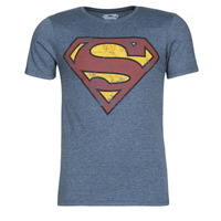 material Men short-sleeved t-shirts Casual Attitude SUPERMAN LOGO VINTAGE Marine
