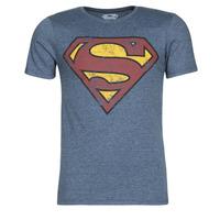 material Men short-sleeved t-shirts Yurban SUPERMAN LOGO VINTAGE Marine