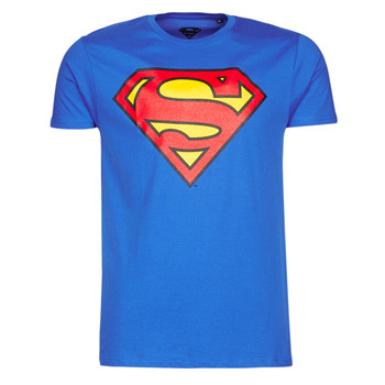 material Men short-sleeved t-shirts Yurban SUPERMAN LOGO CLASSIC Blue