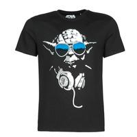 material Men short-sleeved t-shirts Yurban DJ YODA COOL Black