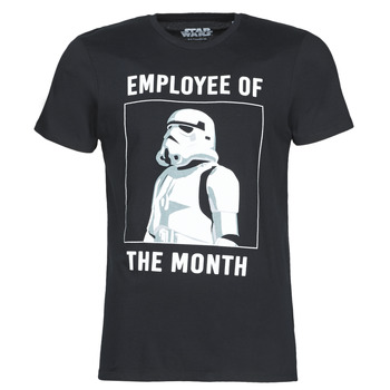 material Men short-sleeved t-shirts Yurban STORMTROOPER OF THE MONTH Black
