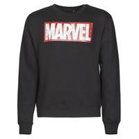 material Men sweaters Casual Attitude MARVEL MAGAZINE CREW Black