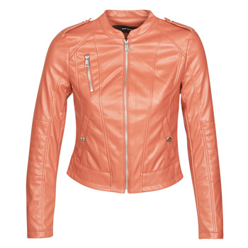 material Women Leather jackets / Imitation leather Vero Moda VMAWARDALMA Brick