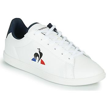 Shoes Children Low top trainers Le Coq Sportif COURTSET GS White / Blue