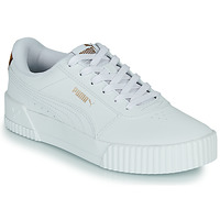 Shoes Women Low top trainers Puma CARINA White / Leopard
