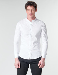 material Men long-sleeved shirts Casual Attitude  White
