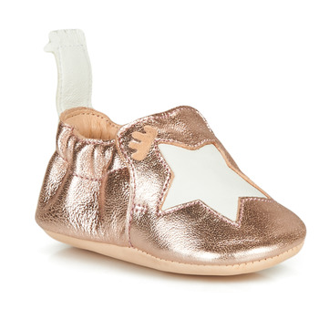 Shoes Children Slippers Easy Peasy BLUMOO ETOILE Pink / Gold