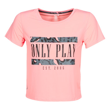 material Women short-sleeved t-shirts Only Play  Pink
