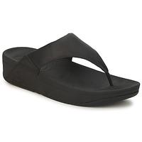 Shoes Women Flip flops FitFlop LULU LEATHER Black