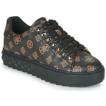 Shoes Women Low top trainers Guess FAIREST Black / Brown