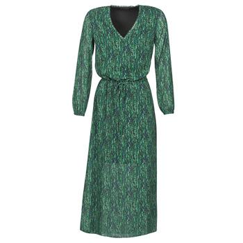 material Women Long Dresses Ikks BR30095 Green