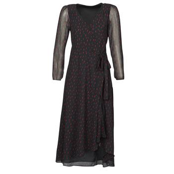 material Women Long Dresses Ikks BR30225 Black
