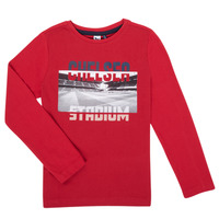 material Boy Long sleeved shirts 3 Pommes 3R10015-37-C Red