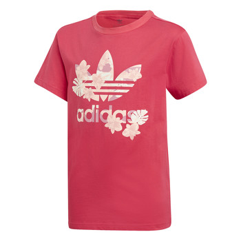 material Girl short-sleeved t-shirts adidas Originals TEE Pink