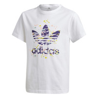 material Girl short-sleeved t-shirts adidas Originals TREF TEE White