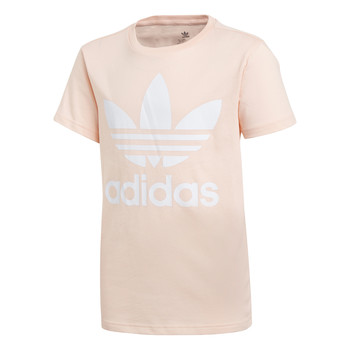material Girl short-sleeved t-shirts adidas Originals TREFOIL TEE Pink