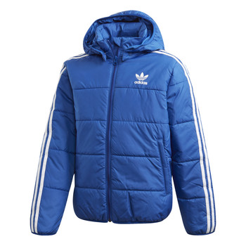 material Boy Duffel coats adidas Originals PADDED JACKET Blue